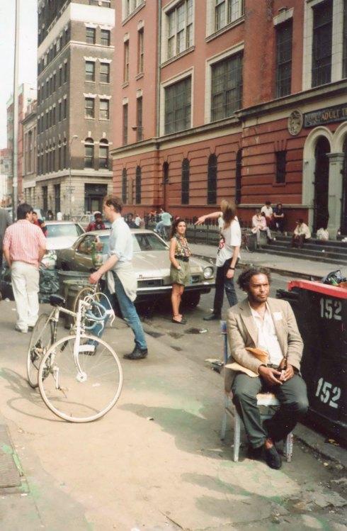 JF in street